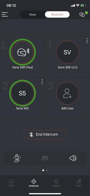Sena 50R Test App