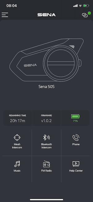 Sena 50S Test App